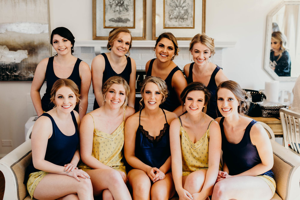 literally the most insanely beautiful bridal party!