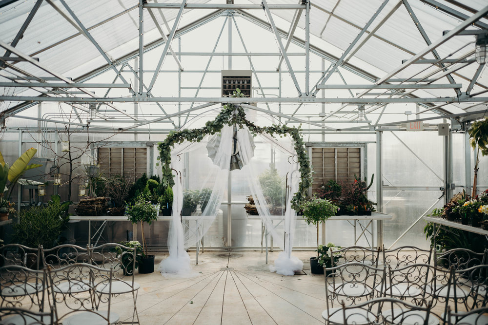 Originally, Bekah and Brendan were supposed to get married outside, but the weather forced them to move the ceremony inside the greenhouse. Honestly, I think the change was for the better, as the greenhouse was stunning and the lighting was so great inside!