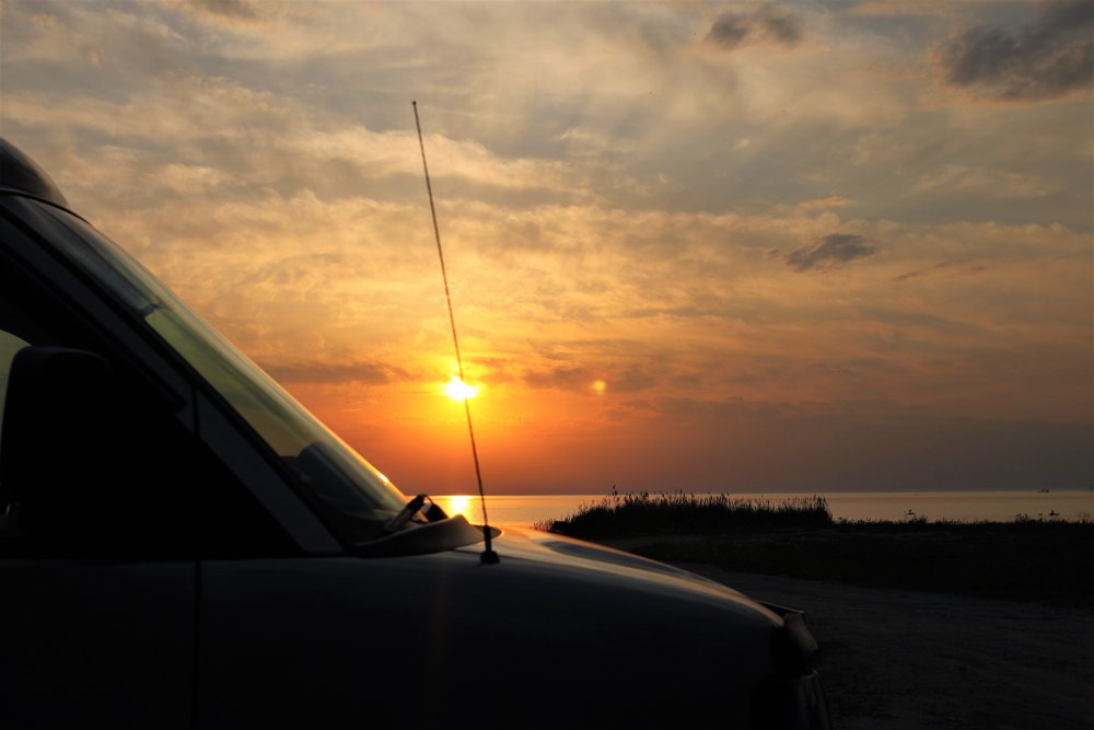 The van always makes an excellent focal point for sunset pictures.