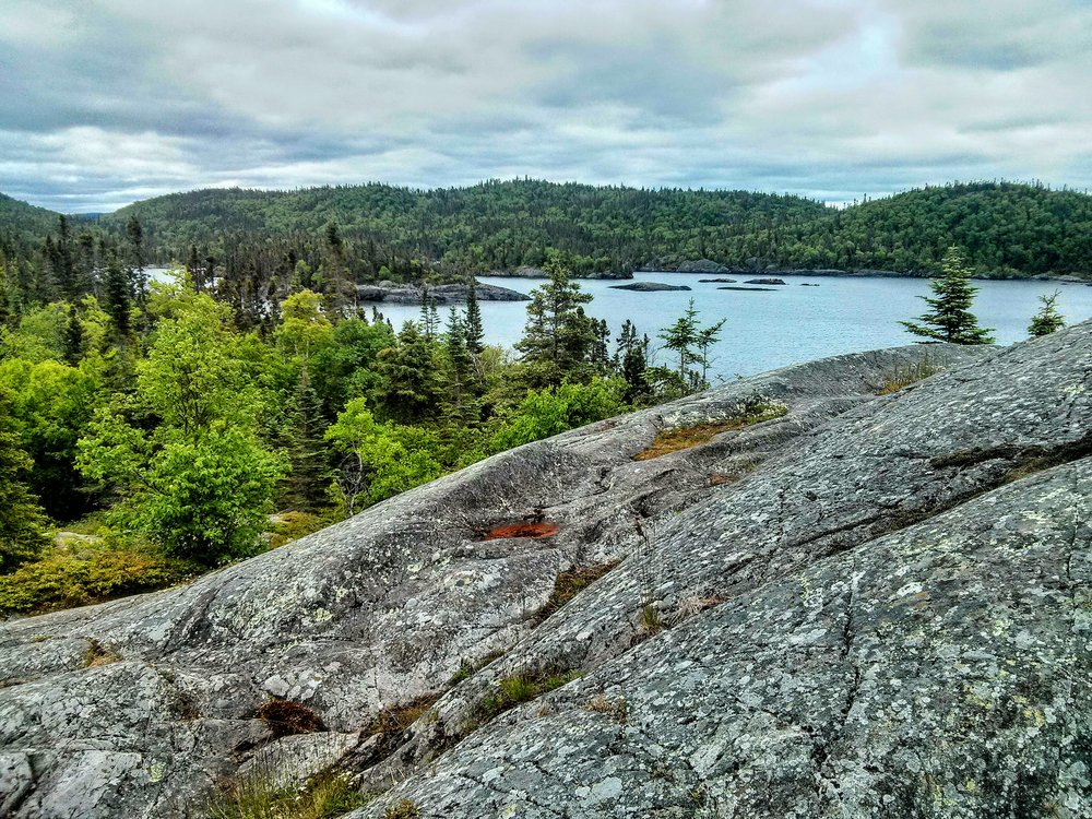 The vast wilderness of Pukaskwa National Park from the Southern Headland Trail seems to stretch on forever.
