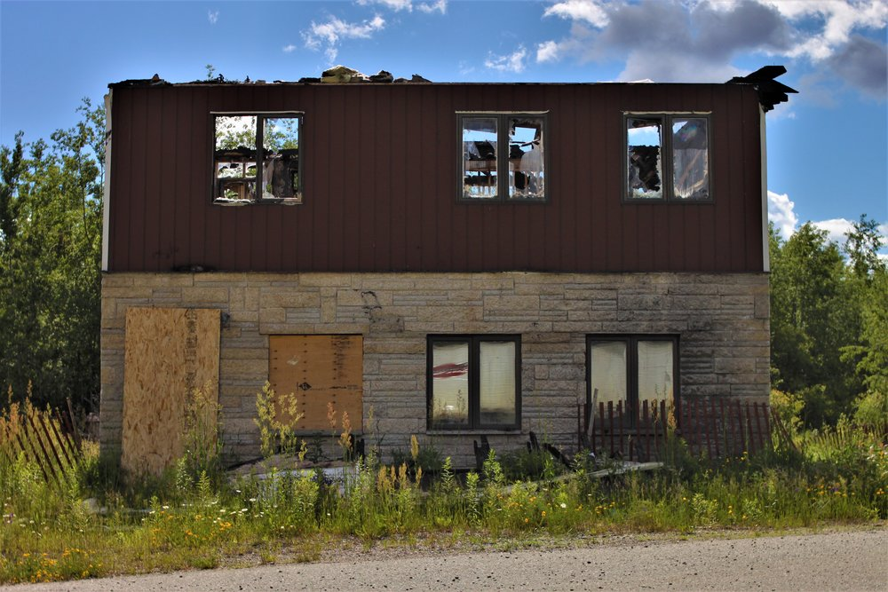 One of many abandoned buildings along the Trans Canada Highway between Thunder Bay and Kenora. We expect many more. These stand as a reminder for us to support Canada's small, independent businesses as we make our way West.