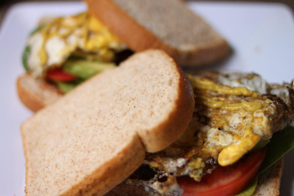 Tomato, fried eggs, avocados, and hot mustard were a staple breakfast for a good long while.