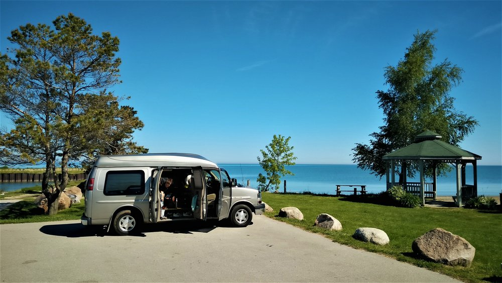 Point Clark, Ontario, on the beautiful blue shores of Lake Huron...