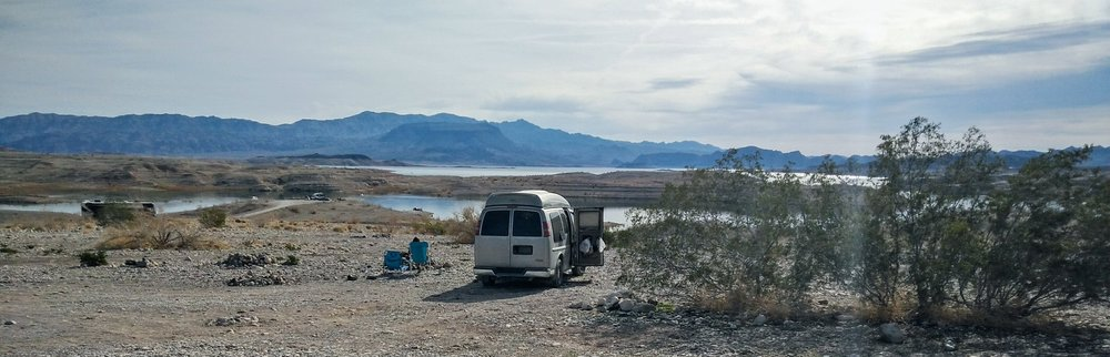Lake Mead in the distance...