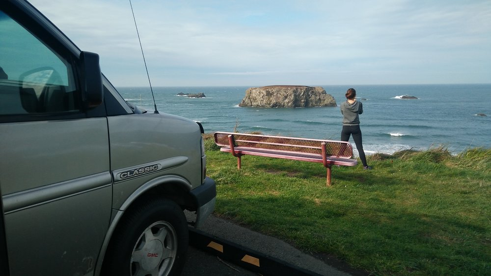 Oregon's rugged coast was full of beautiful beaches with massive cliffs and boulders.