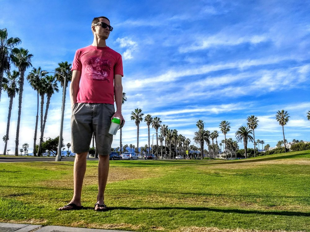 We mostly slept in remote locations but the Santa Monica beaches and palm trees convinced us to stay a while.