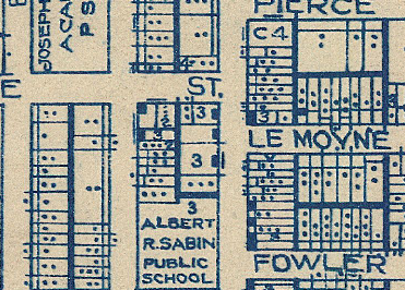 Leavitt and Le Moyne on a 1922 map