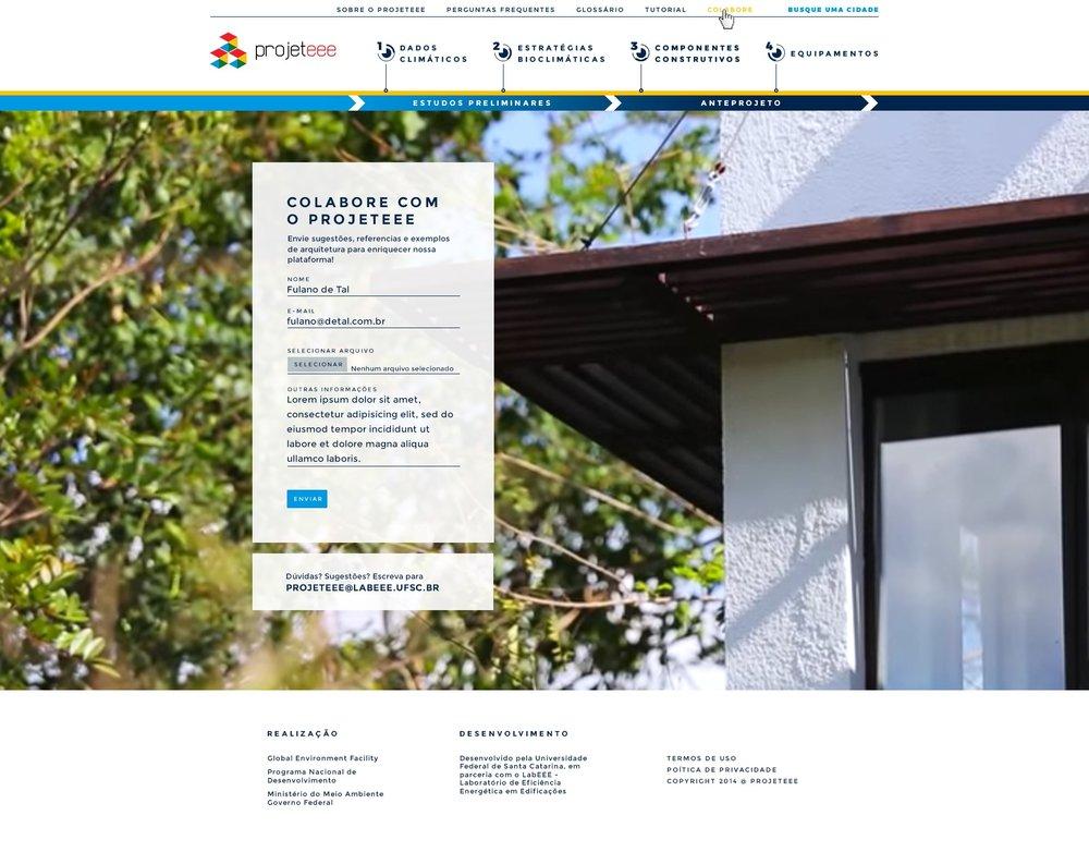 Site PROJETEEECliente: MMA/PNUDServiço: Conteúdo arquitetura bioclimática e novo layout da plataforma digital - Em parceria com a super equipe da Calebe Design!