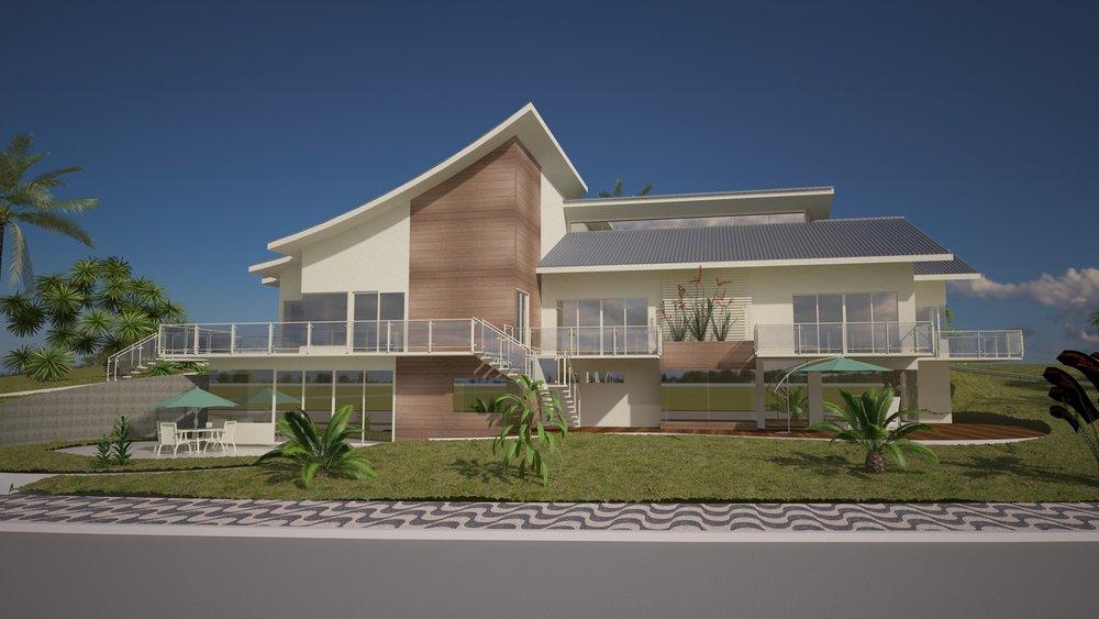 Casa OndaCliente: Menarim ArquiteturaServiço: Simulação energética para a Certificação GBC Brasil Casa e Cálculos PBE Edifica - RTQ-R -