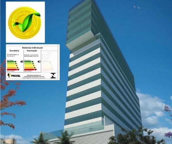 Comercial Prime Savassi;Cliente: Ferreira Miranda;Certificação: PBE Edifica classificação A eSelo BH Sustentável categoria Ouro -