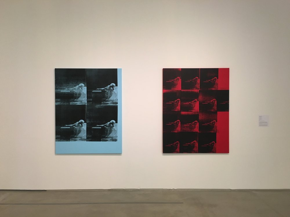 Gavin Turk, Marat Pale Blue (left) and Red Marat (Right)