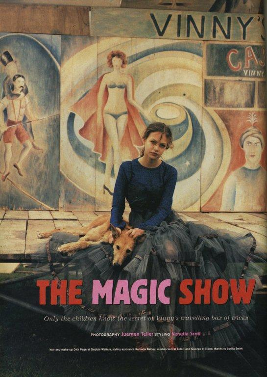 The Magic Show, Face, December 1994, Photogrpaher Juergen Teller & Styling Venetia Scott