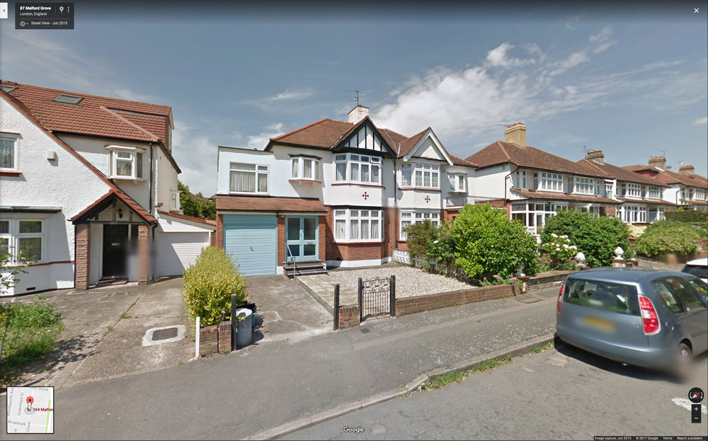104 Malford Grove taken in June 2015. Image courtesy of Google Street View