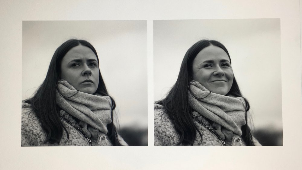 Work print of a portrait Diptych