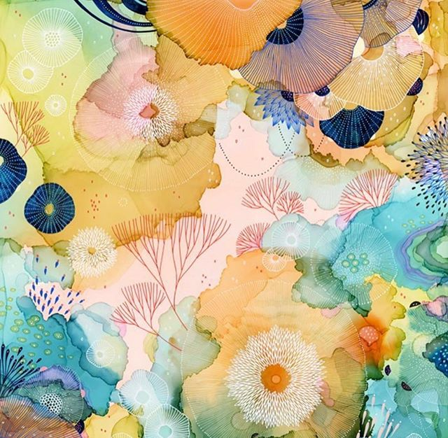 Seaweed art to brighten your day ⭐️🌾🌊 by @yellenajames #seaweedart