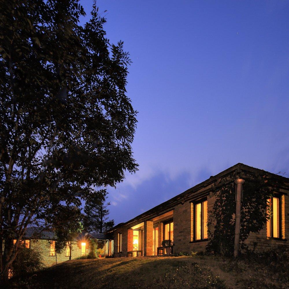 Lodge Exterior - Main Building by night Rajbansh.jpg
