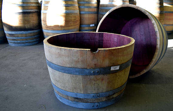 Wine Barrel Planters - $50