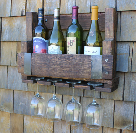 Wine Barrel Wine Rack - $75
