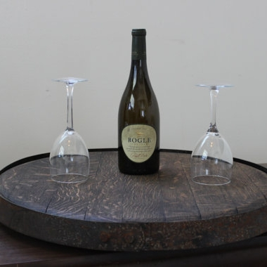 Wine Barrel Head Lazy Susan - $129
