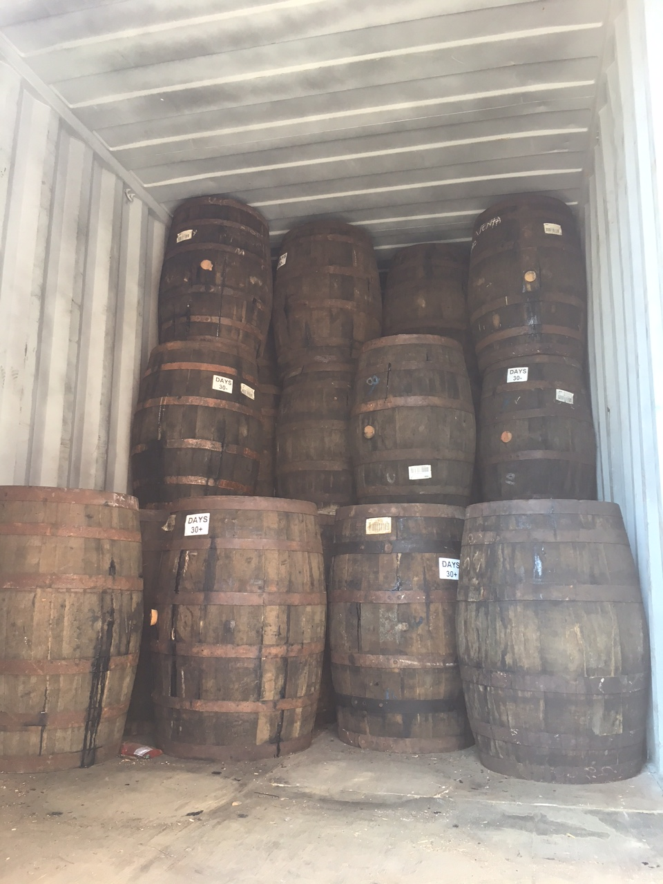 Barrels Loaded and Shipped