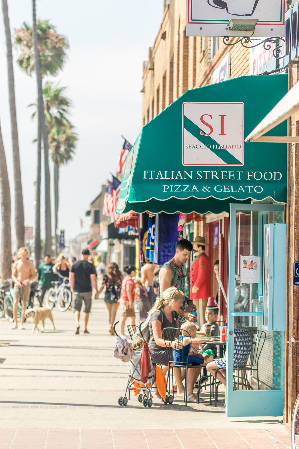 Balboa Peninsula shops and restaurants At Newport Beach pier