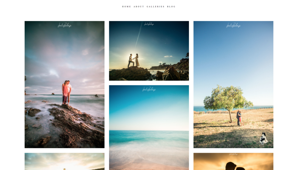 Modern and clean looking photography website design Joseph Barber Studios