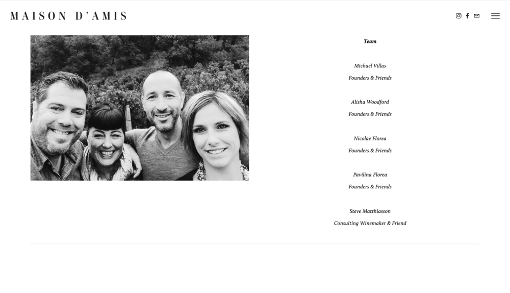 Example of a website page designed by Joseph Barber Studios