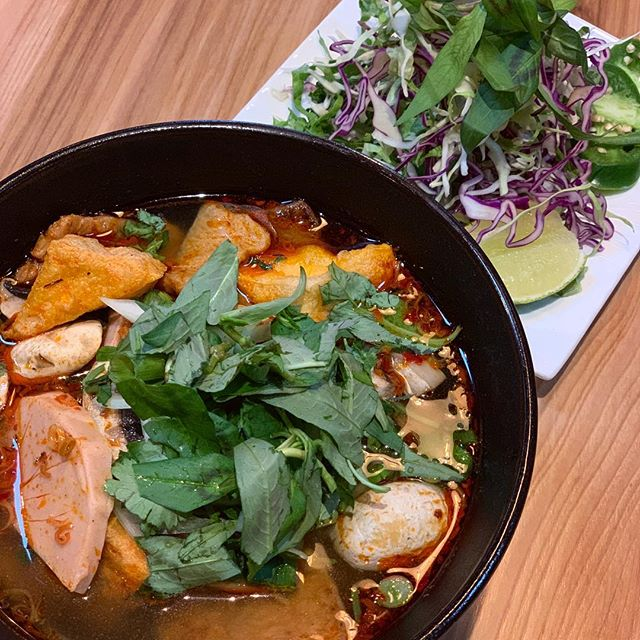 The newest addition to our menu is our vegan Bún bò huế! Thank you to our lovely customers for their continuous suggestion of this dish, we are happy to announce that it is finally here! This bowl of soup will make you feel right at home. 🍜