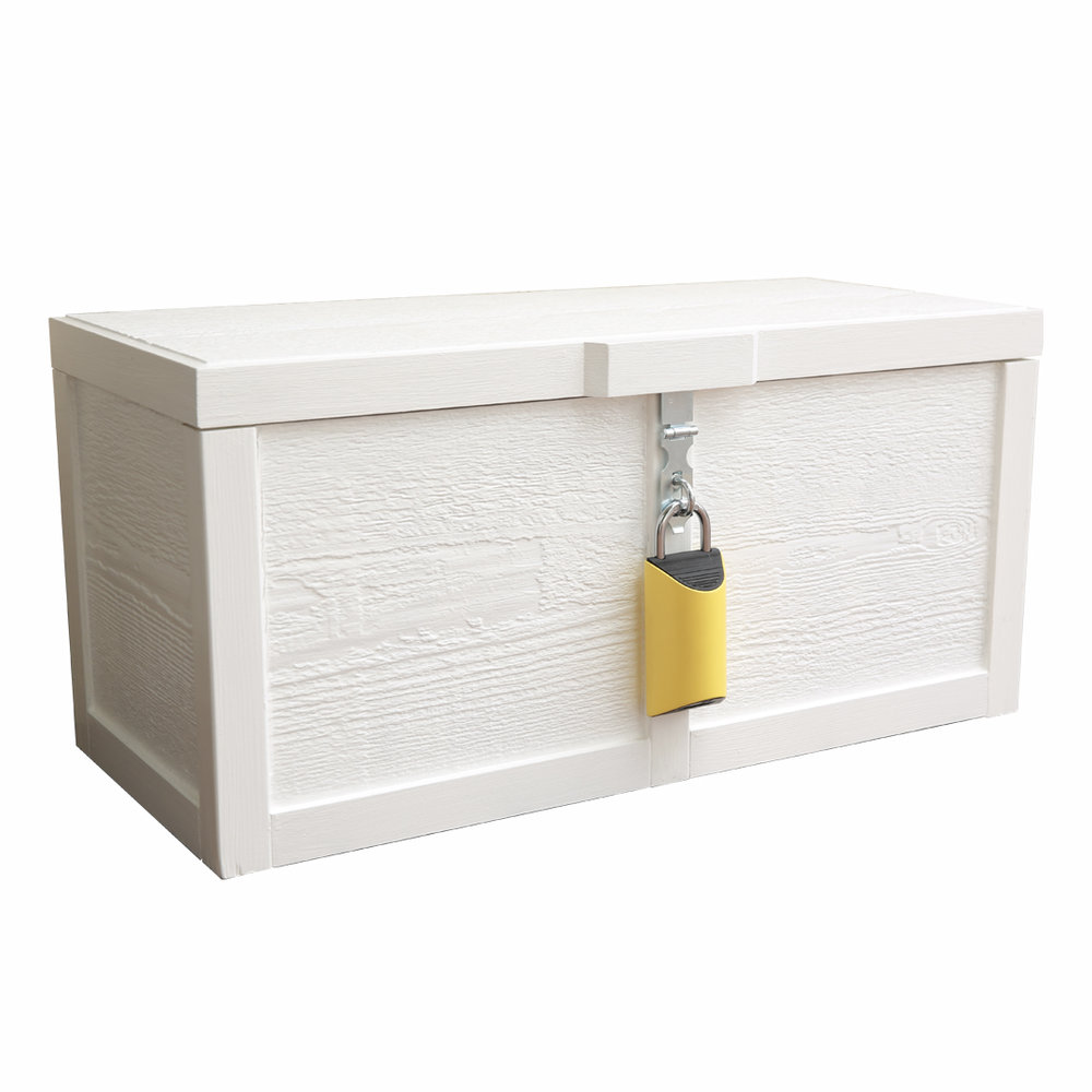 """BoxLock Home + PorchBox $325 + shipping Be one of the first to get a BoxLock Home and an exclusive Porch Box. Items included: -BoxLock Home -Window Sticker -Porch Box -Yard Sign Porch Box is 28"""" W x 12.5"""" D x13.5"""" H Holds parcels up to 26.75"""" x 9.5"""" x 11"""" (or two 11"""" x 11.75"""" x 11"""" parcels Pre-Order Now"""