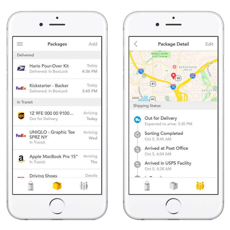 Effortless Tracking - BoxLock automatically collects tracking numbers for anything delivered to your household or business.Effortless Tracking works with UPS My Choice, FedEx Delivery Manager, USPS Informed Delivery and Amazon Prime.