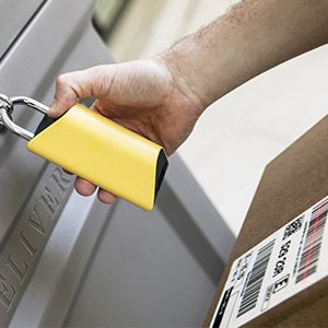 How it works - Hundreds of thousands of delivery drivers across the U.S. have been trained to use the barcode scanner in BoxLock to protect your deliveries.Only packages that are for you and out for delivery that day will open this smart padlock.Once unlocked, your carrier securely places your package in the box. No more worrying about redeliveries or stolen packages.