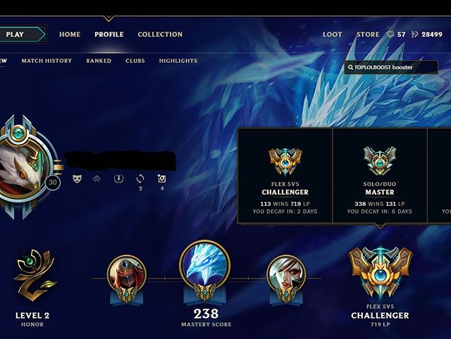 """Another challenger member added to our team , """"MAY"""". May peaked 985lp flex ,(#1 team in NA). Stats are decayed due to inactivity on account . If you want the very best , contact us. We hire a minimum of master tier players. #toplolboost #lolboosting #lolcoaching #lolboost #lolcoach"""