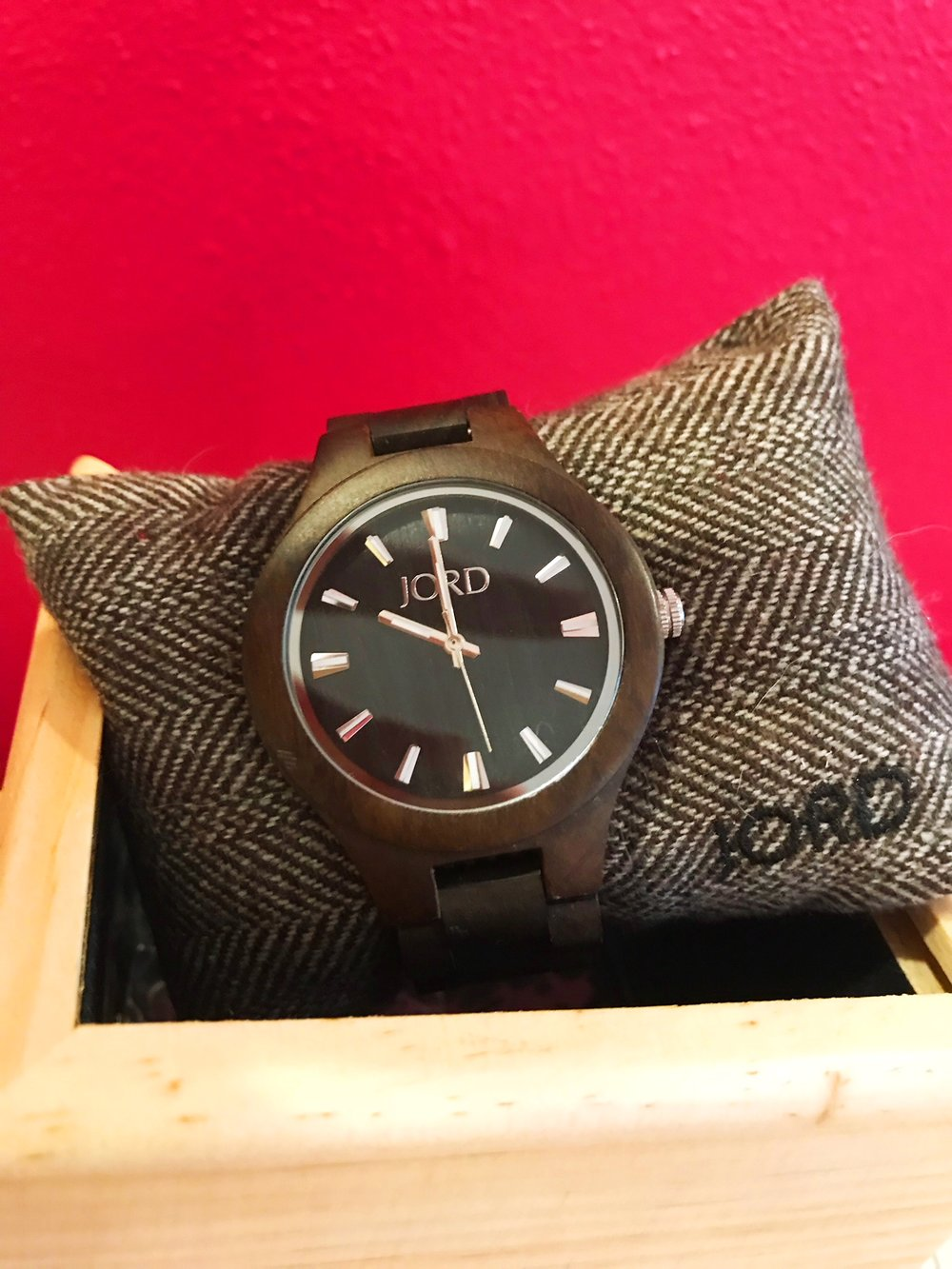 JORD Fieldcrest watch in Dark Sandalwood