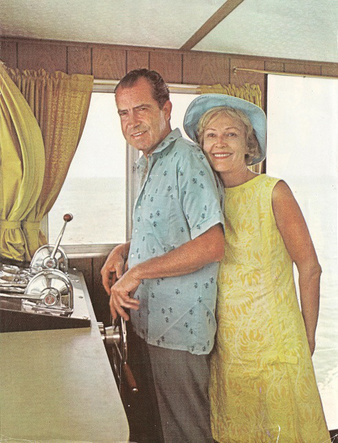 This is probably the sweetest photo of Pat and Richard Nixon I've ever seen. Also, the colors are great. (Courtesy of Carl Anthony Online)