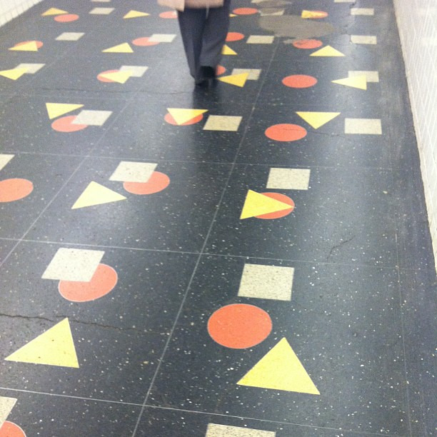 This is what it looked like to walk on floors in the 1980s.