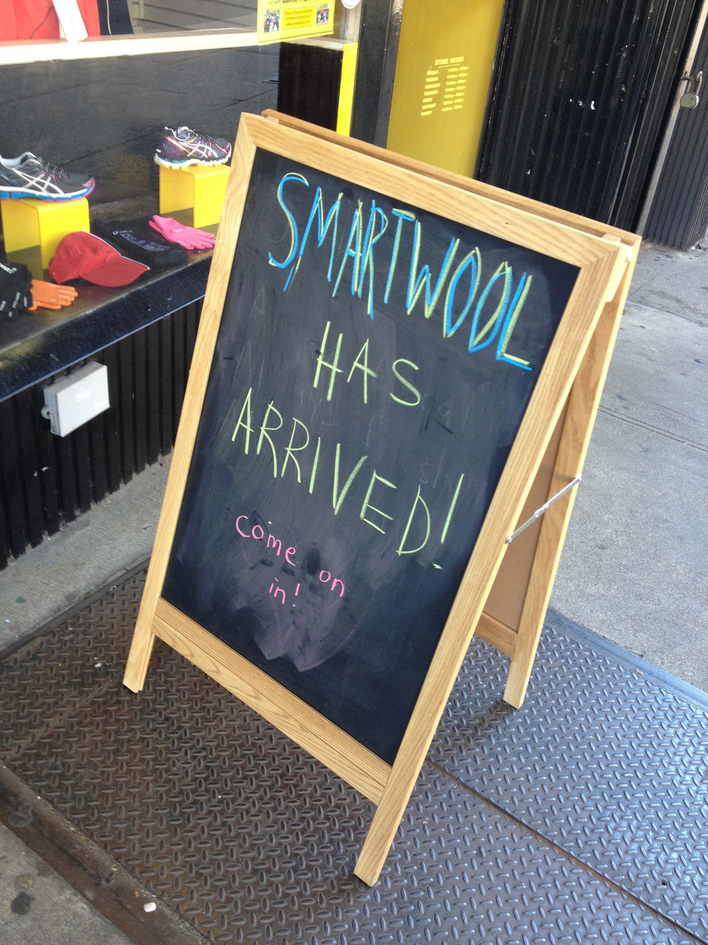 Heralding the arrival of SmartWool in Park Slope.