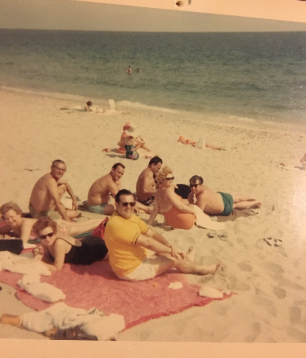 A photo I found of a family or group of friends on a beach, in a box at a Williamsburg thrift store