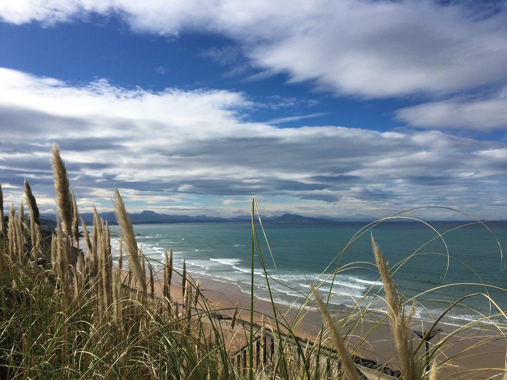 Biarritz's shoreline.