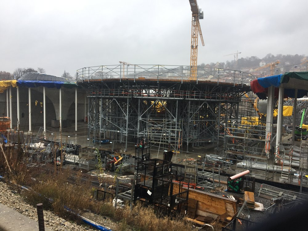 The construction site of Stuttgart 21, an expensive and controversial train link project in the middle of the city