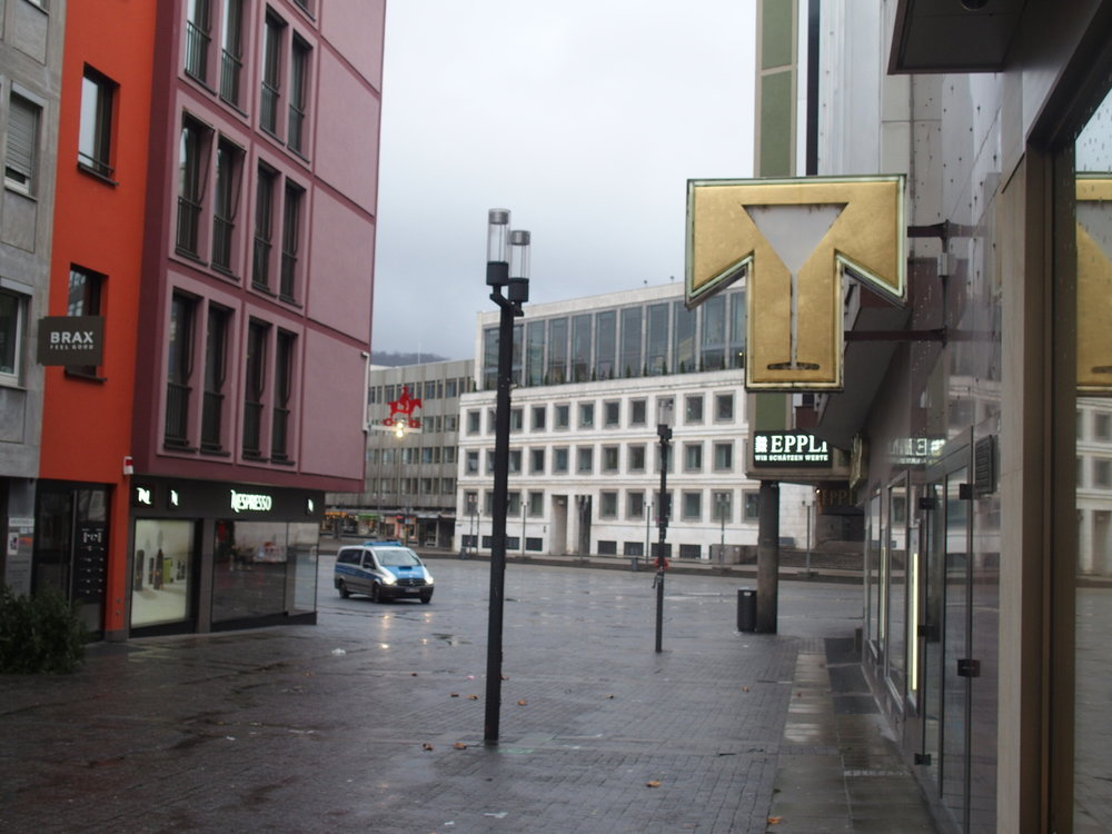 Stuttgart is a very modern city, because so much of it was destroyed during the war