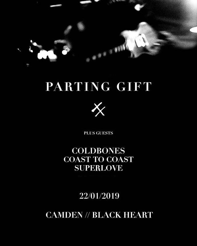 This is the full lineup of our London headliner at the Black Heart. @partinggiftband @coldbonesuk @thisisc2c @superloveuk  Tickets on sale via link in bio