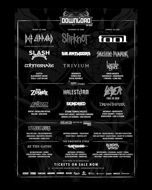 Download Festival. Parting Gift play on Saturday 15th of June on the Avalanche stage.