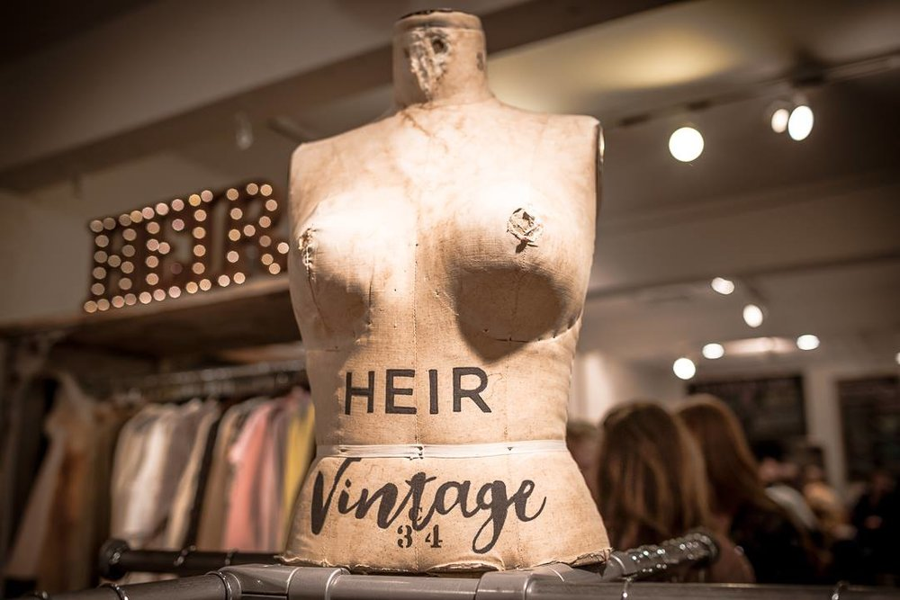 heir vintage - Heir Vintage is a mobile vintage boutique based out of Aspen, Colorado specializing in high end vintage scores, one of a kind pieces, multigenerational basics, highly alluded to novels, turquoise jewelry, art and other treasures. AE cohort members Mia Sadowsky and Kelsey McCarthy are adventurer. She treasures bringing vibe and culture; living, breathing, personality into the mundane of consumer shopping. www.heirvintage.com