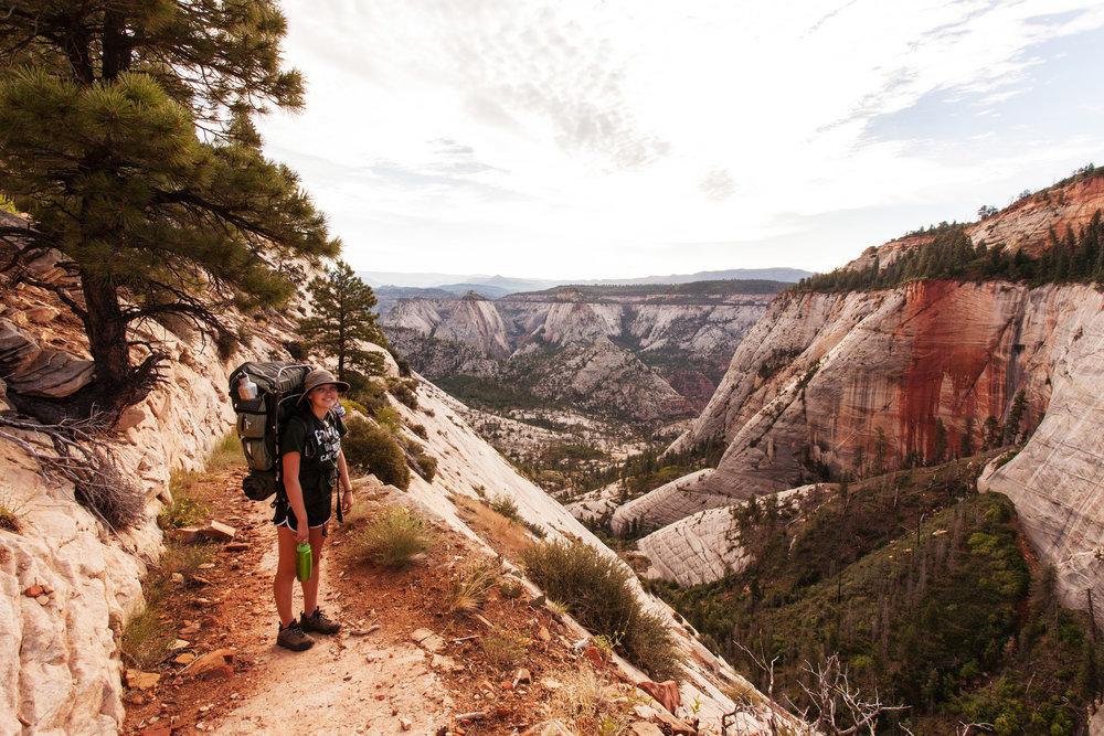 West Rim Trail goes narrow