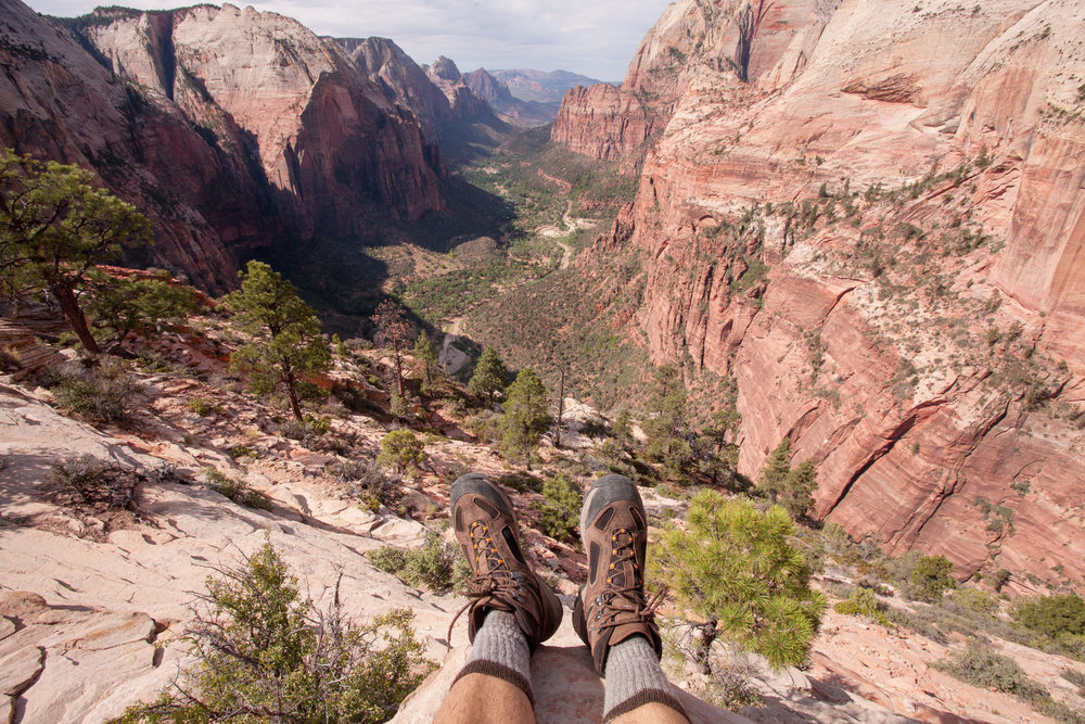 Posted at the top of Angel's Landing