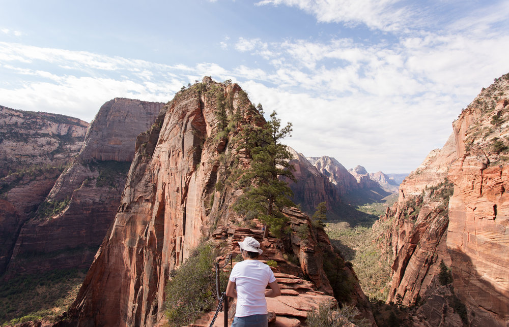 On the way up to Angel's Landing