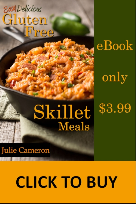 Easy Delicious Gluten-free Skillet Meals Cookbook available on Amazon Kindle