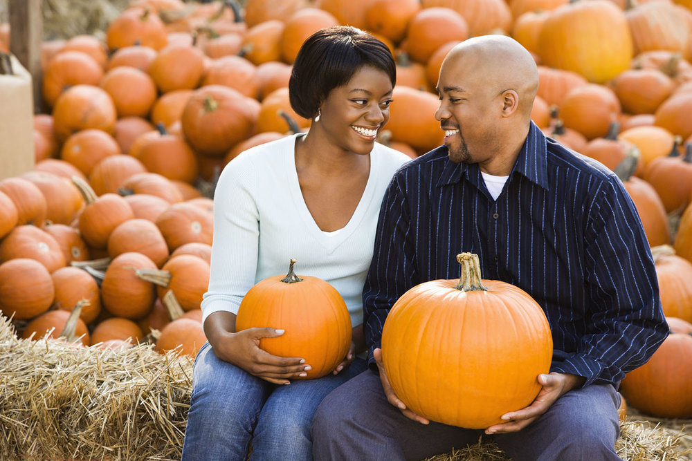 Couple with pumpkins Easy Gluten-Free Cooking