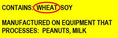 Labels - In the USA food labels must list the major allergens.  Look for the word