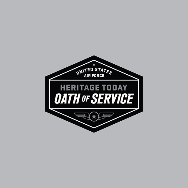 #tbt to this badge created for the US Air Force highlighting the Heritage Today series which was created to inspire and promote core values inside their organization. Always an honor to work on projects such as these. ... #logo #typography #airforce